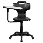 Flash Furniture YU-YCX-032-GG Plastic Mid-Back Armless Task Chair, Black