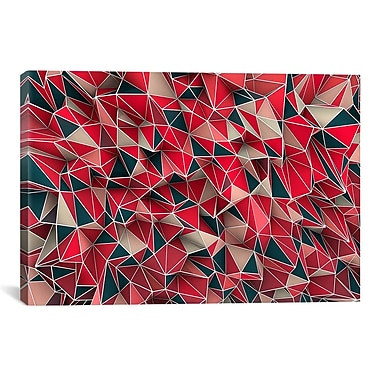 iCanvas 'Kaos Red' by Maximilian San Graphic Art on Canvas; 27'' H x 41'' W x 1.5'' D