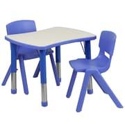 "Flash Furniture YU09832RECTBLBL 21.88"" x 26.63"" Plastic Rectangle Activity Table, Blue"