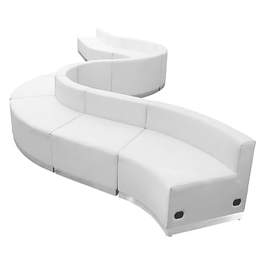 Flash Furniture Alon Series ZB803400SWH LeatherSoft Reception Set, 10 PC, White