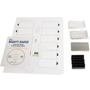 The Mighty Badge 901718, Name Tag Starter Kit for Laser Printer, Silver, 10/Pack