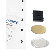 "The Mighty Badge 901720 Name Tag Starter Kit For Laser Printer, 1.7"" x 2.57"", Gold"