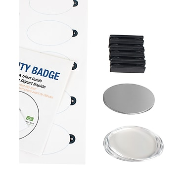 The Mighty Badge 901721 Name Tag Starter Kit for Inkjet Printer, Silver, 10/Pack