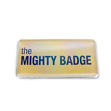The Mighty Badge 901806 Name Tag Refill Kit For Inkjet Printer, 1 1/2