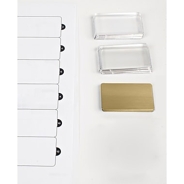 The Mighty Badge 901807 Name Tag Refill Kit For Laser Printer, 1 1/2