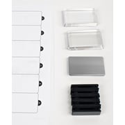 "The Mighty Badge 901809 Name Tag Refill Kit For Laser Printer, 1 1/2"" x 2 3/4"", Silver"
