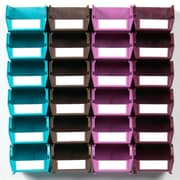 LocBin Wall Storage Small Bins, Multicolor (3-210MCWS)