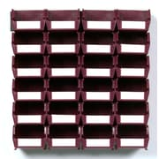 LocBin Wall Storage Small Bins, Raspberry (3-210RBWS)