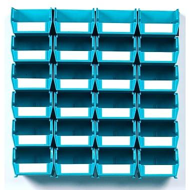 LocBin Wall Storage Bins Small, Teal (3-210TBWS)