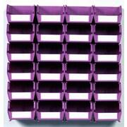 """LocBin Wall Storage Small Bins, 3""""H x 4.12""""W x 5.37""""L, Orchid (3-210WOWS)"""