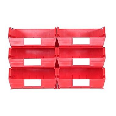 LocBin Wall Storage Large Bins, Red (3-235RWS)