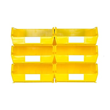 LocBin 3-235YWS Wall Storage Large Bins, Yellow