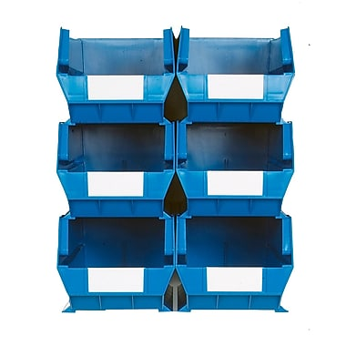 LocBin Wall Storage Large Bins, Blue (3-240BWS)