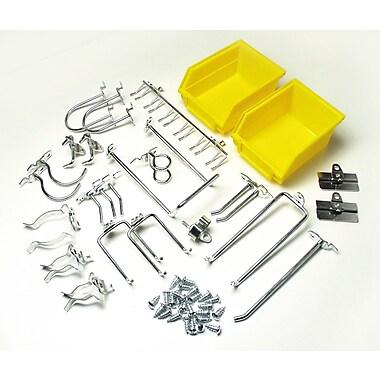 DuraHook 76901 Kit 24 Hooks 2 Bins, Yellow
