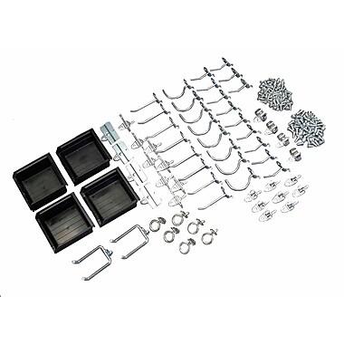 DuraHook 76964 Kit 60 Hooks 4 Bins, Black