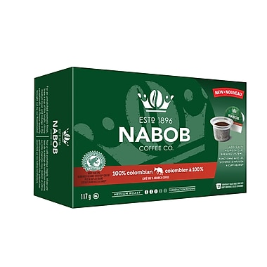 Nabob 100% Colombian Blend Single Serve Coffee, 12/Pack