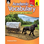 Academic Vocabulary: 25 Content-Area Lessons Level 4