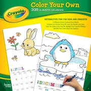 Browntrout Publishers 12 x 12 Crayola Color Your Own Wall Calendar