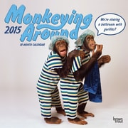 "Browntrout Publishers 12"" x 12"" Monkeying Around Wall Calendar"