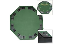 Deluxe Poker and Blackjack Tabletop With Case, Green