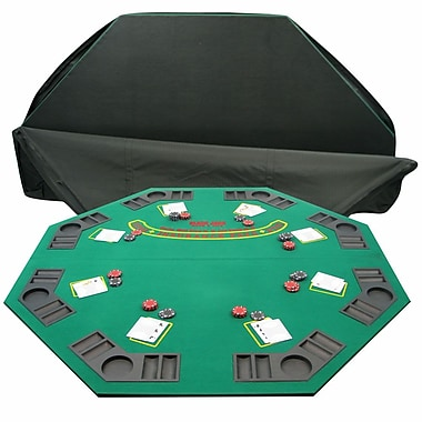 Trademark 2 Fold Poker/Blackjack Single Sided Tabletop, Green