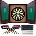 Realistic Walnut Finish Dartboard Cabinet Se