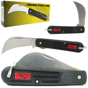Trademark 4.12 Great Value Stainless Steel Pruning Utility Knife, Black