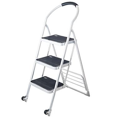 Trademark Stalwart™ Step Ladder Folding Cart Dolly, 250 lbs., White