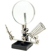 "Trademark Stalwart™ Hawk Helping Hand 3 1/2"" Magnifier With Soldering Station"