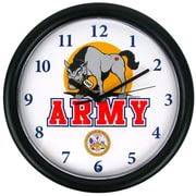 Trademark 9 3/4 Deluxe Chiming US Army Clock, Mule Mascot