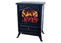 Trademark Warm House Retro Floor Standing Electric Fireplace, Black