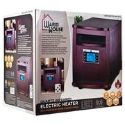 Trademark Warm House 80-5531 Digital Readout Portable Infrared Heater, Mahogany