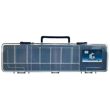 Gone Fishing™ Multi-Compartment Fishing Tackle Box, Blue/Clear