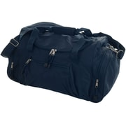 "Trademark Toppers™ 20"" x 10 1/2"" x 9 1/2"" Overnighter 3 Pocket Travel Bag, Navy"