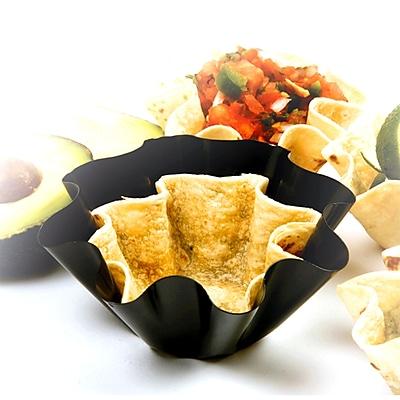 Chef Buddy Taco Salad Bowl Makers, Black, 3/Set 1181165