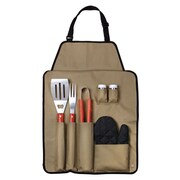 Chefs Outdoor 7 Piece BBQ Apron and Utensil Set
