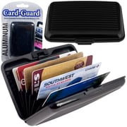 Trademark Home Aluminum Credit Card Wallet With RFID Blocking Case, Black