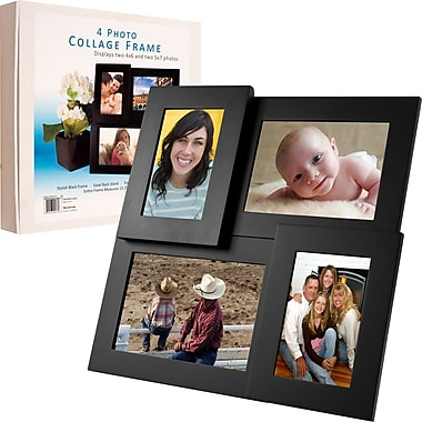 Pandigital 4-Standard Photo Collage Wooden Picture Frame (82-FRM4)