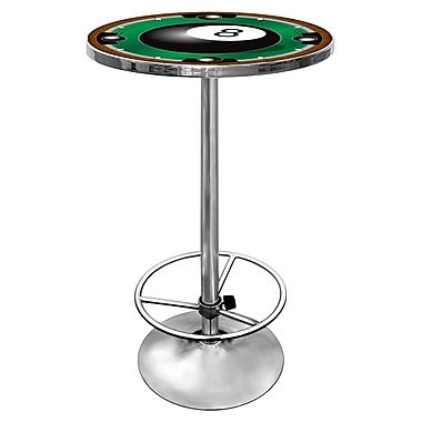 Trademark Chrome Pub Table, 8-Ball