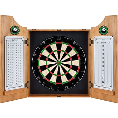 Trademark Wood Dart Cabinet Set
