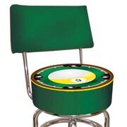 Trademark 40'' Novelty Swiveling Base Padded Bar Stool, Green (844296015658)
