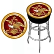 Trademark 30in. Padded Swivel Bar Stool, Budweiser A & Eagle