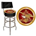 Trademark 40in. Padded Swivel Bar Stool With Back, Budweiser A & Eagle