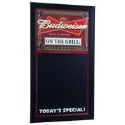 "Trademark Budweiser 26"" x 14"" Write On Menu Chalk Board, BBQ On The Grill"