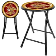 "Trademark 18"" Cushioned Folding Stool, Anheuser Busch A & Eagle"