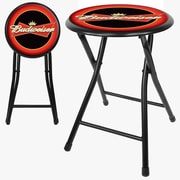 "Trademark 18"" Cushioned Folding Stool, Budweiser"