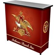 """Trademark 36"""" Metal Portable Bar With Case, Anheuser Busch A & Eagle"""