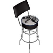 "Trademark 41 3/4"" Padded Swivel Bar Stool With Back, U.S Army The Horn Calls"