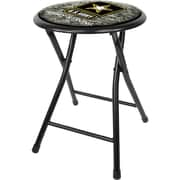 "Trademark 18"" Cushioned Folding Stool, U.S. Army Digital Camo"