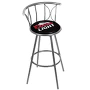 Trademark 39 Weatherproof Padded Outdoor Bar Stool, Coors Light